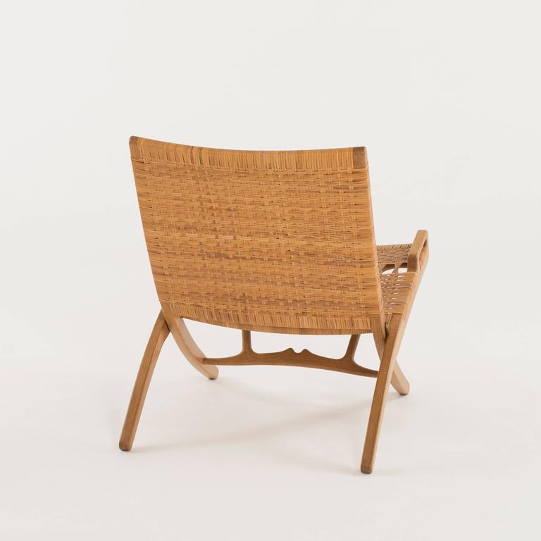 Hans J. Wegner Folding Chair for Johannes Hansen In Good Condition For Sale In Copenhagen, DK