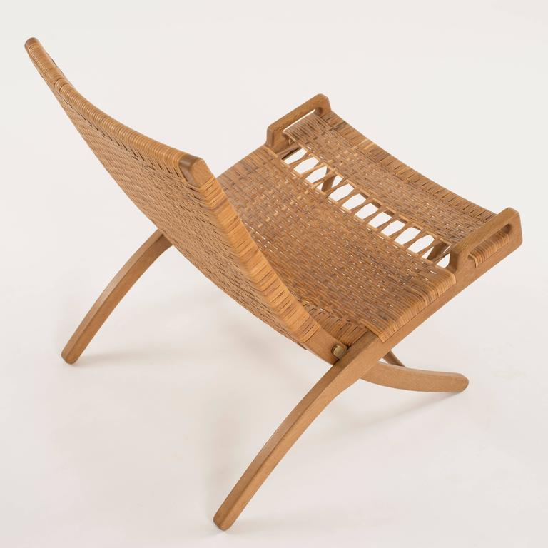 20th Century Hans J. Wegner Folding Chair for Johannes Hansen For Sale