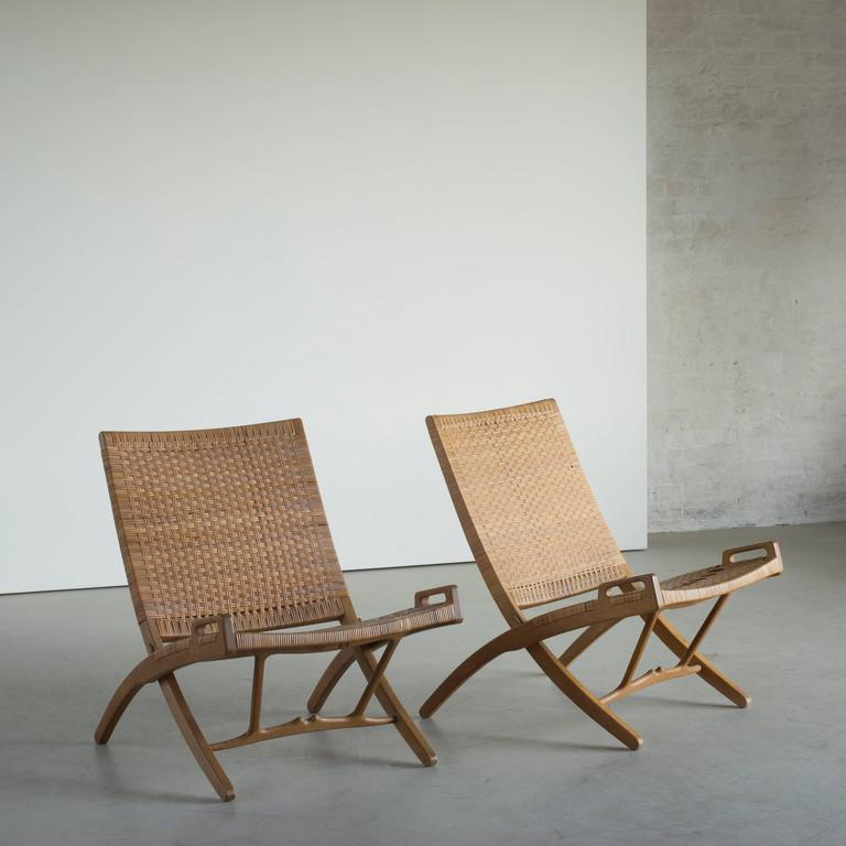 Hans J. Wegner Folding Chair for Johannes Hansen For Sale 1