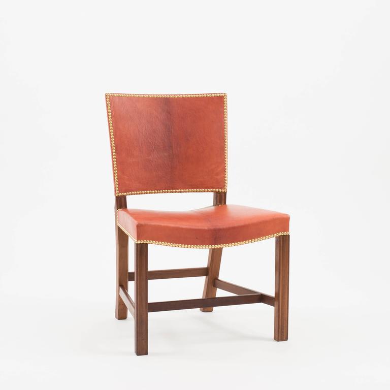 Danish Kaare Klint Red Chair, Rud. Rasmussen, 1930s For Sale