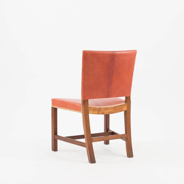 Kaare Klint Red Chair, Rud. Rasmussen, 1930s In Good Condition For Sale In Copenhagen, DK