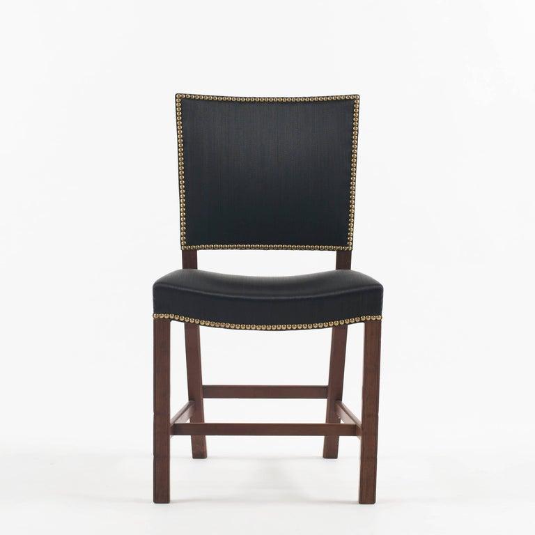Danish Kaare Klint Red Chair for Rud. Rasmussen, 1930s For Sale