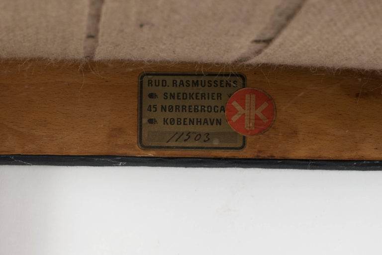 Brass Kaare Klint Red Chair for Rud. Rasmussen, 1930s For Sale