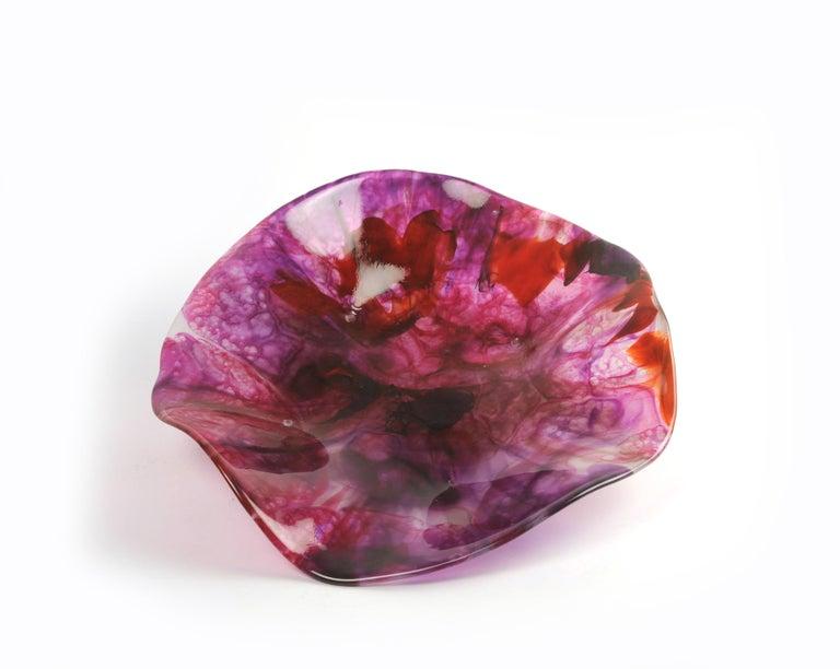 Mexican Liriaz Organic Glass Centerpiece in Medium Size For Sale