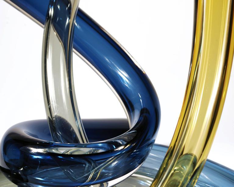 SPORELOVE Blown Glass Sculpture Set of 3 In New Condition For Sale In Naucalpan, Edo de Mex