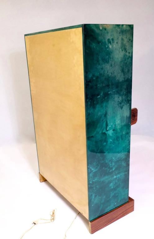 Aldo Tura Bar in Green Goatskin For Sale 1