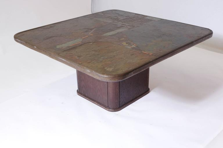 Mid-Century Modern Square Coffee Table by M. Kingma For Sale