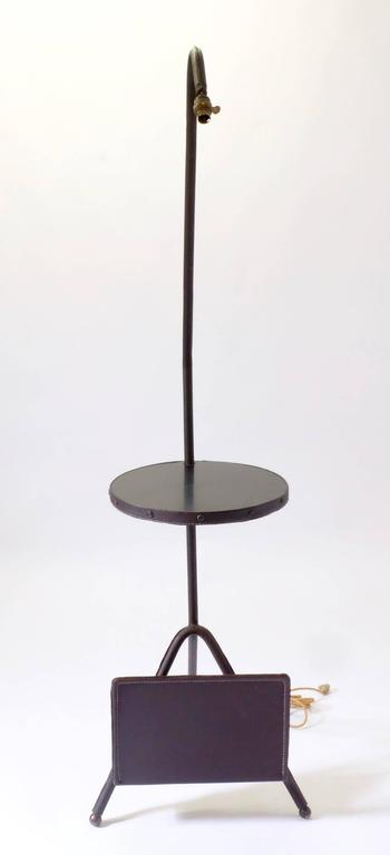 Mid-Century Modern Floor Lamp by Jacques Adnet For Sale