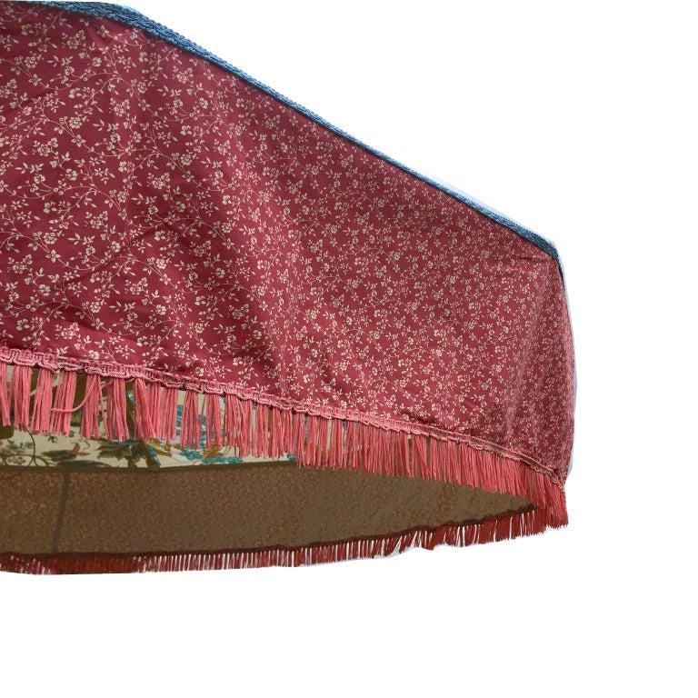 Vintage Fabric Designer Floral Sun Umbrella Garden Parasol