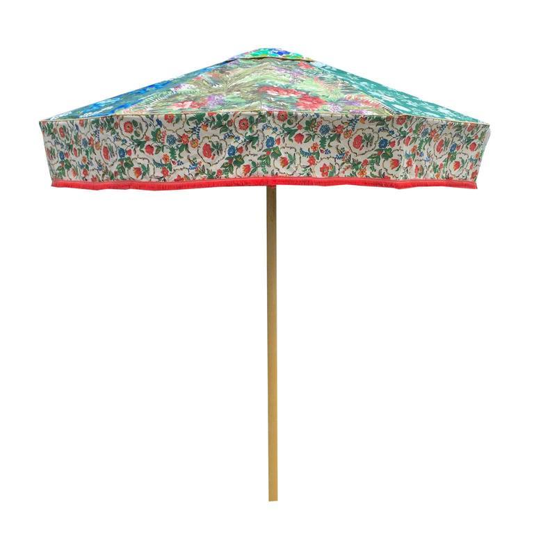 Sunbeam Jackie Designer Sun Umbrella Patio Parasol Vintage Textiles