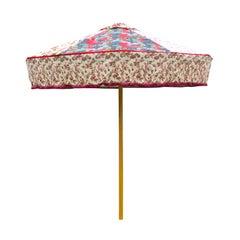 Pink Designer Floral Sun Umbrella in Vintage Fabrics