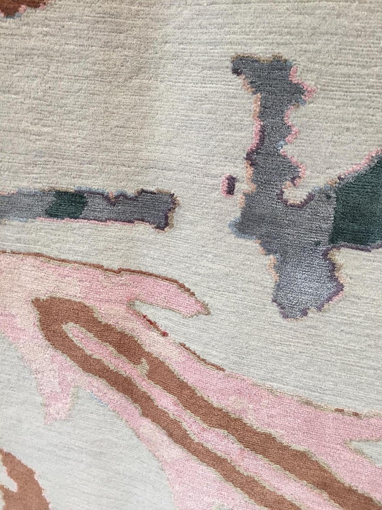 Kaitag Design Rug in Wool and Silk by Amir Aligorgi For Sale 1