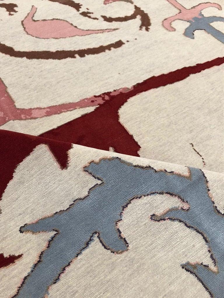 Kaitag Design Rug in Wool and Silk by Amir Aligorgi For Sale 3