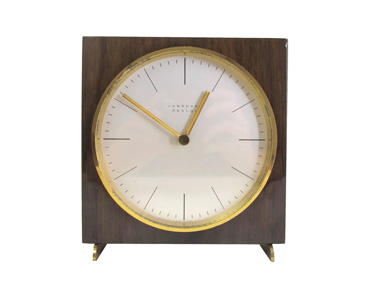 vintage table clock by max bill for junghans ag 1950s for. Black Bedroom Furniture Sets. Home Design Ideas