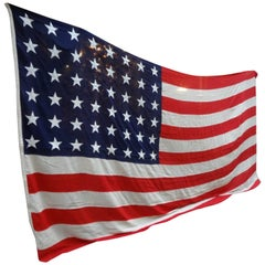 Enormous Vintage 48 Star American Flag Stars and Stripes