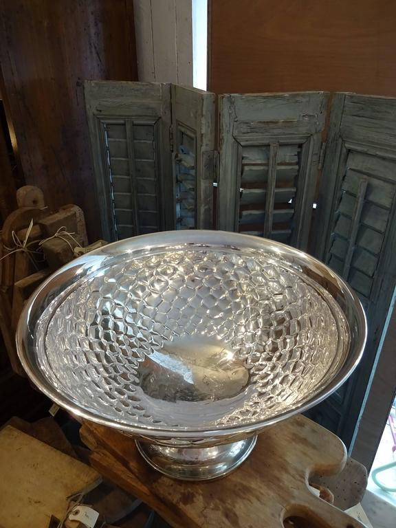 Other Early 20th Century French Silver Plated Champagne Cooler Bowl For Sale
