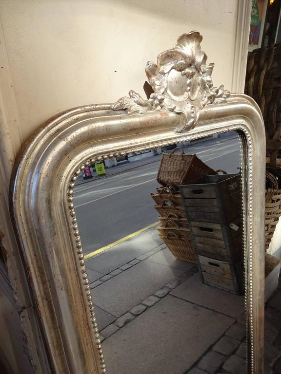 Antique louis philippe silver mirror for sale at 1stdibs for Silver mirrors for sale