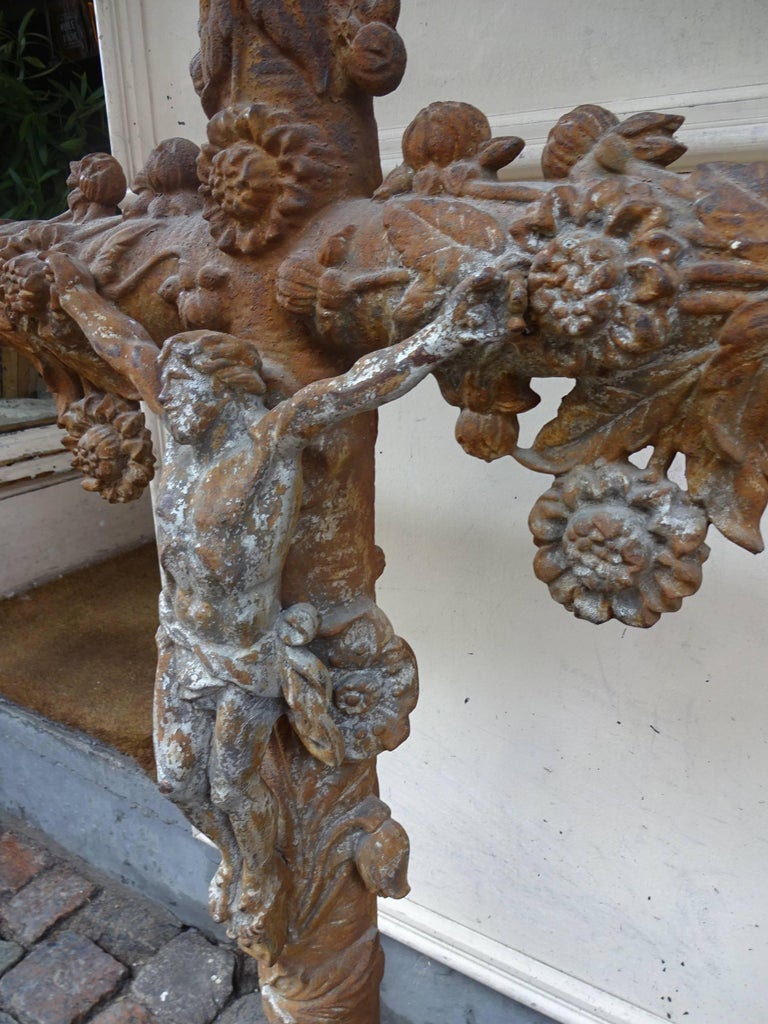 Other French 19th Century Cast Iron Crucifix For Sale