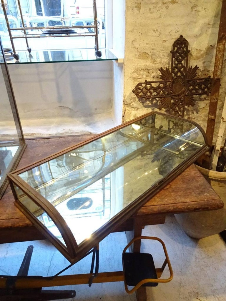 French Brass Jewellery Display Case For Sale