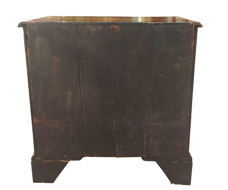 Antique Georgian Chippendale Original Mahogany Small Bachelor Chest Drawers 5