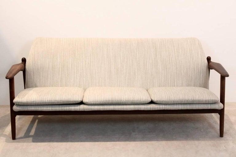 Magnificent Three Seat Teak Sofa By Propos Hulmefa Dutch Design
