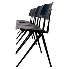 Large Stock of Stackable Galvanitas S17 Industrial Dining Chairs