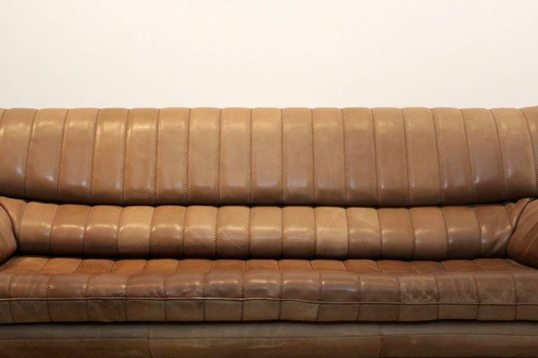 Thick Leather Sofa : ... sofa in thick buffalo leather the fine cognac brown leather is in