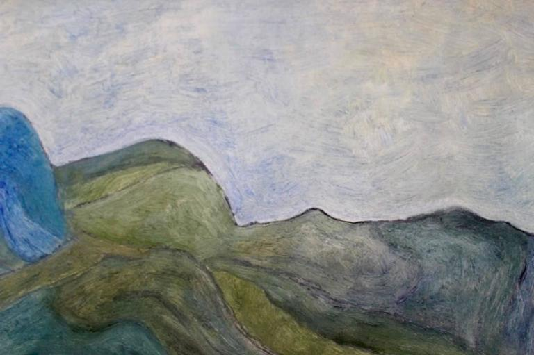 Modern Mountain View at the Provence Painting For Sale
