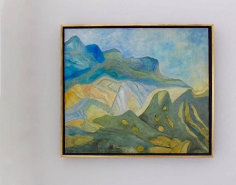 Dutch Mountain View at the Provence Painting For Sale