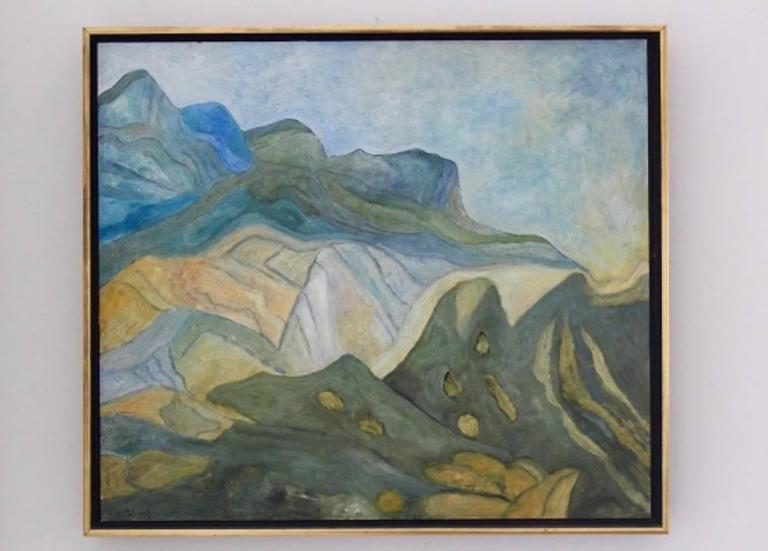 Contemporary Mountain View at the Provence Painting For Sale