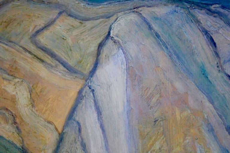 Mountain View at the Provence Painting In Excellent Condition For Sale In Voorburg, NL