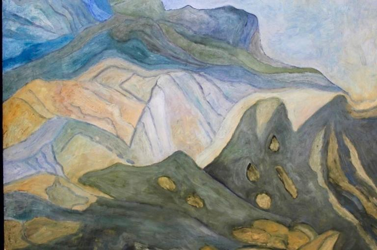 Mountain View at the Provence Painting For Sale 1