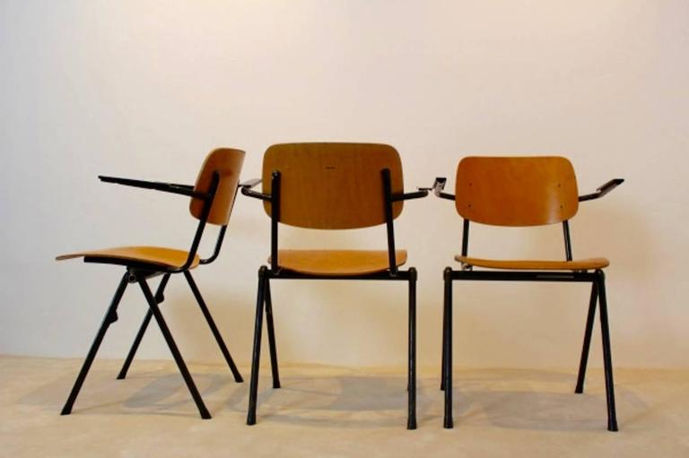 industrial plywood marko school chairs netherlands 1960s