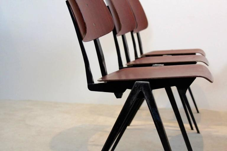 Large Stock Of Stunning Stackable Galvanitas S16 Industrial Diner Chairs,  1960s 2