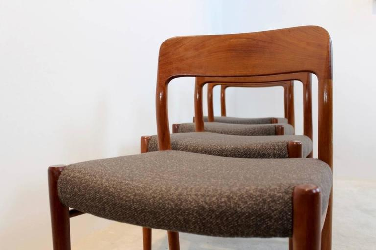Danish Model 75 Dining Chairs by Niels Otto Møller for J.L. Møllers Møbelfabrik A/S For Sale