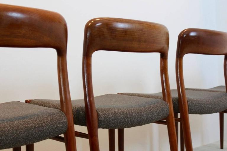 Model 75 Dining Chairs by Niels Otto Møller for J.L. Møllers Møbelfabrik A/S For Sale 2