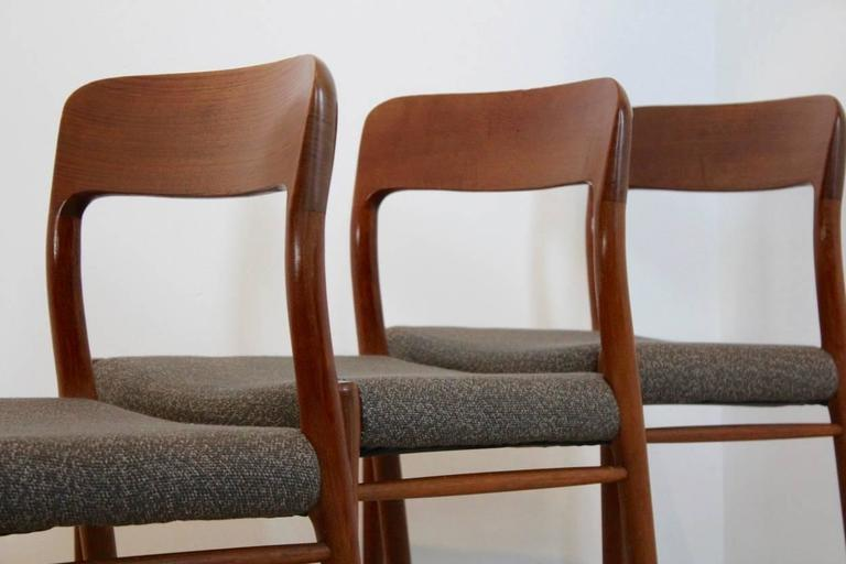 20th Century Model 75 Dining Chairs by Niels Otto Møller for J.L. Møllers Møbelfabrik A/S For Sale