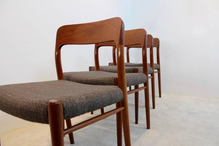Model 75 Dining Chairs by Niels Otto Møller for J.L. Møllers Møbelfabrik A/S For Sale 3