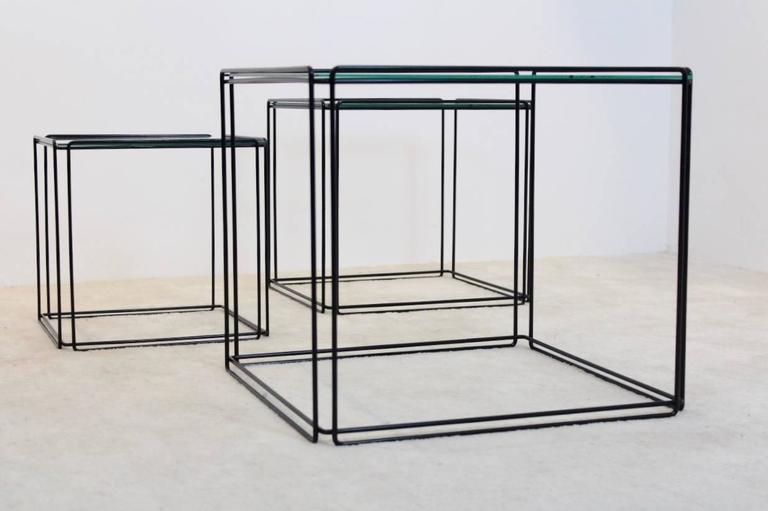 Mid-Century Modern Graphical Isocele Nesting Tables by Max Sauze for Arrow, 1970s