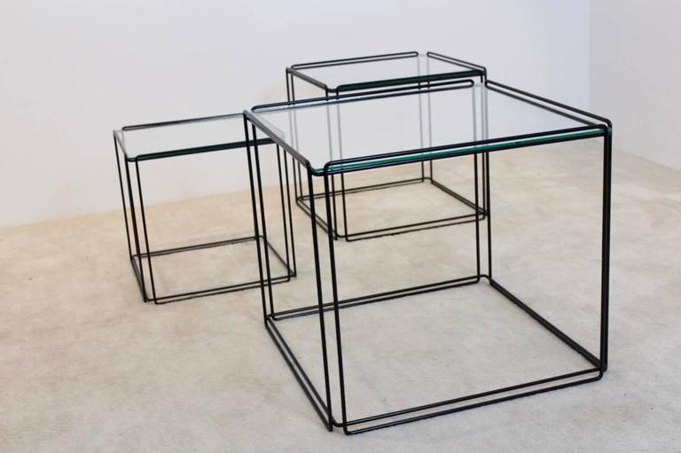 Graphical Isocele Nesting Tables by Max Sauze for Arrow, 1970s In Excellent Condition In Voorburg, NL