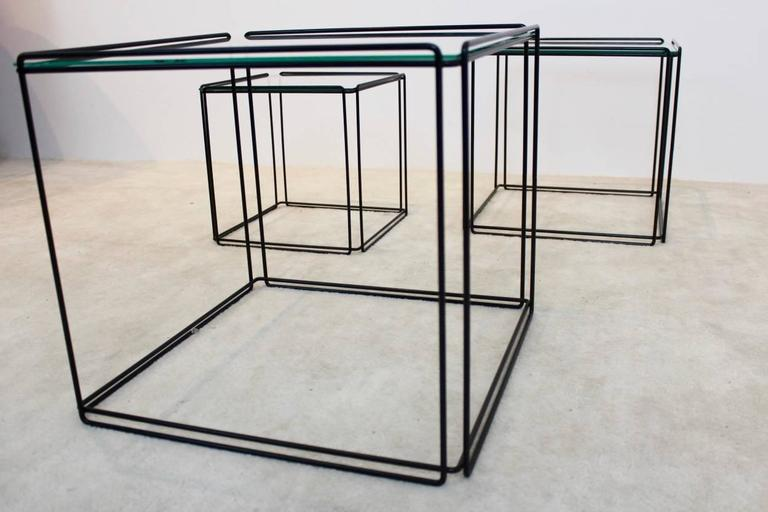 20th Century Graphical Isocele Nesting Tables by Max Sauze for Arrow, 1970s