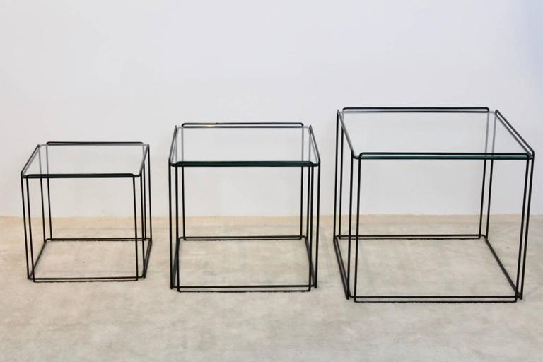 Graphical Isocele Nesting Tables by Max Sauze for Arrow, 1970s 1