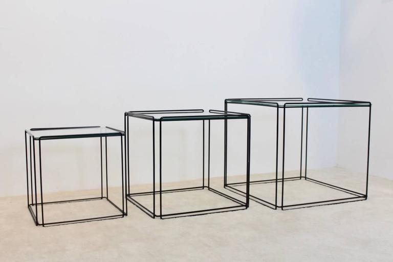Graphical Isocele Nesting Tables by Max Sauze for Arrow, 1970s 2