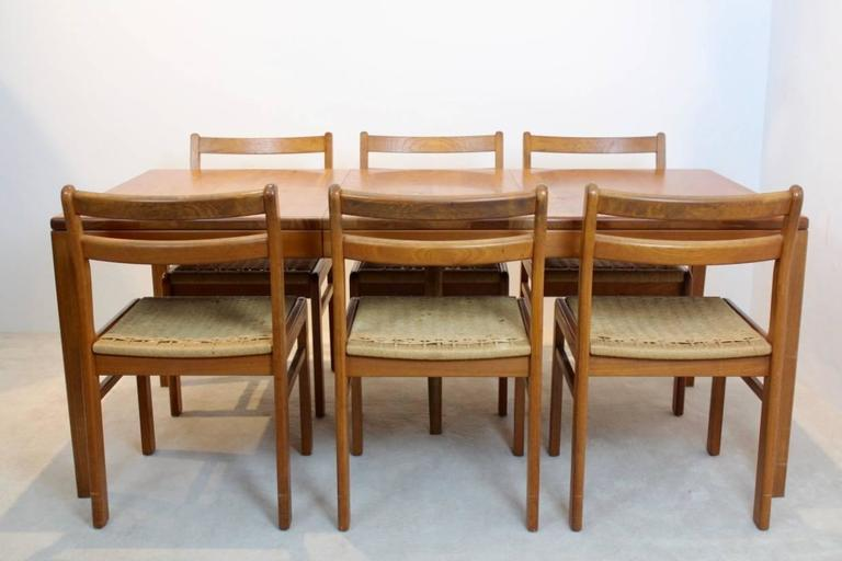 danish dining set with practical extensions for sale at 1stdibs