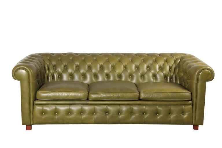 leather chesterfield style sofa and armchair by arne norell at 1stdibs. Black Bedroom Furniture Sets. Home Design Ideas