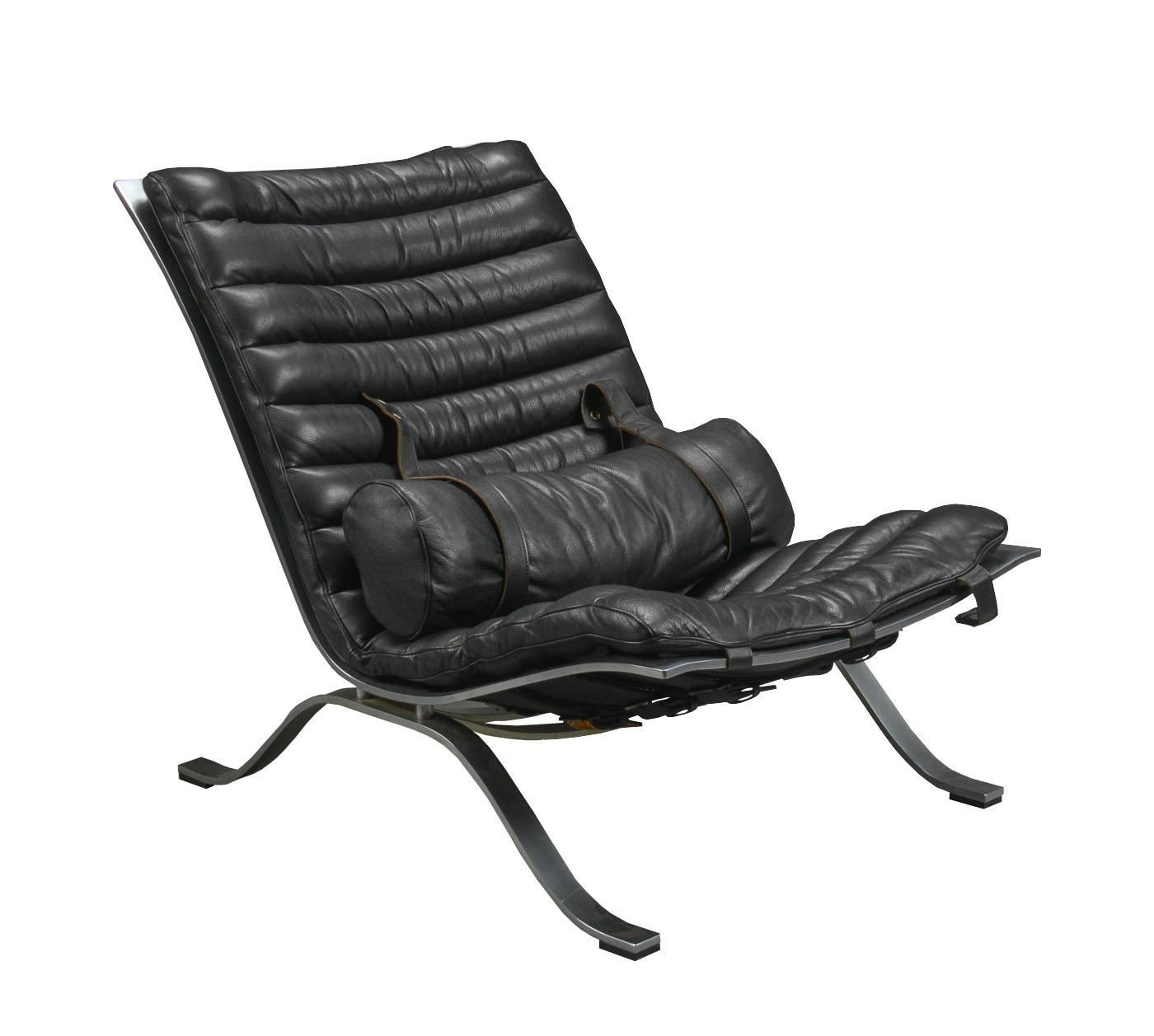 Ari Leather Dining Chair Ash: Ari Chair By Arne Norell In Black Leather For Sale At 1stdibs