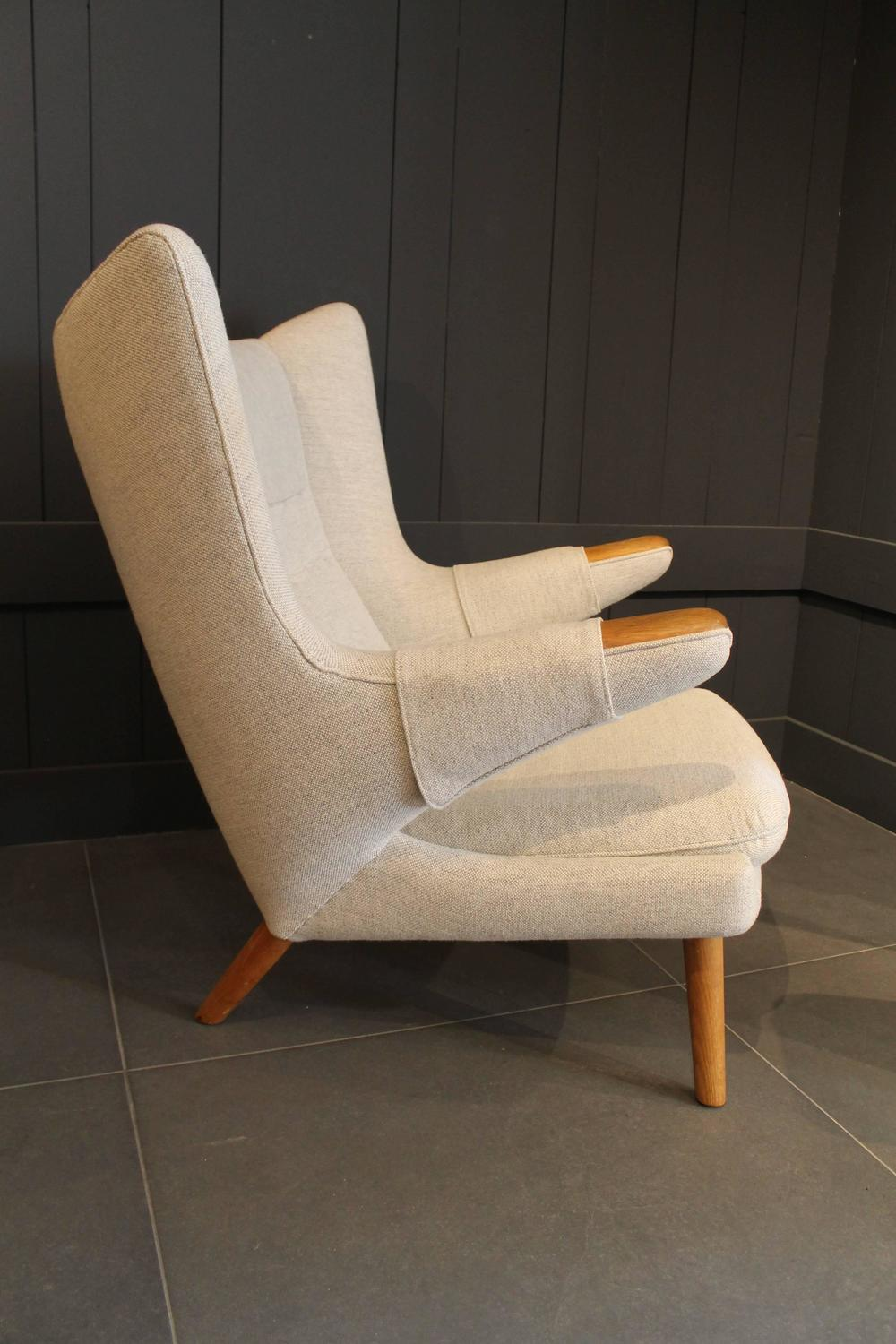 Hans Wegner Quot Papa Bear Quot Chair And Footstool For Sale At