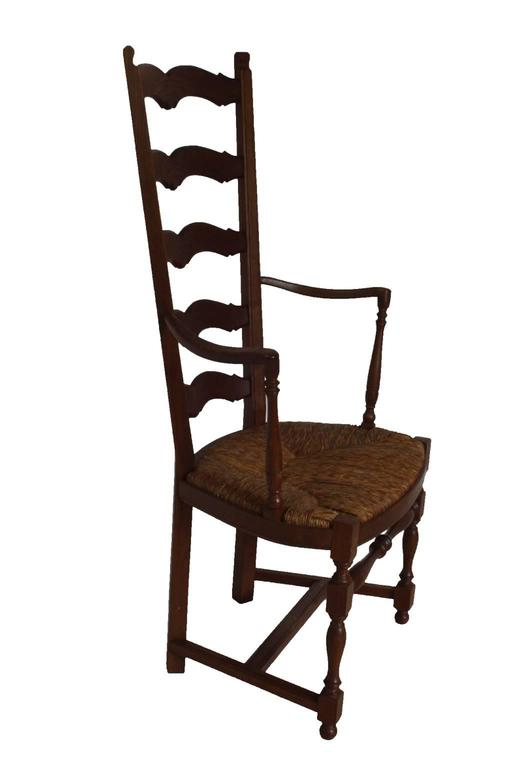 French Country High Ladder Back Armchairs, circa 1900 For ...