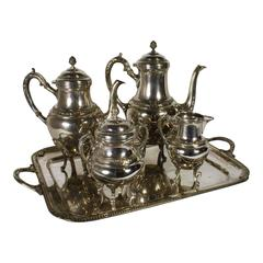 Silver Plated Coffee and Tea Five-Piece Set, Early 20th Century