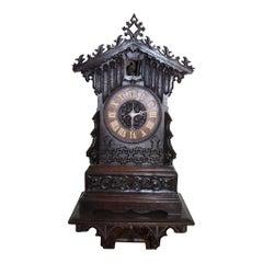 German Cuckoo Clock with Wall-Mounted Shelf, circa 1840